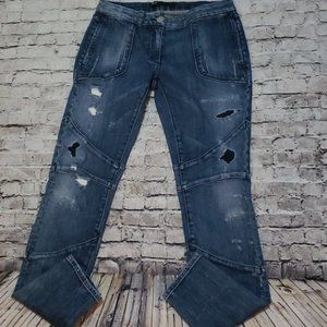 3x1 W1 NYC Distressed Moto Patched Skinny Jean 27